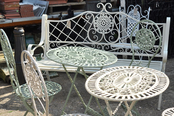 reclaimed metal garden furniture