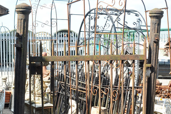 reclaimed iron gate and posts