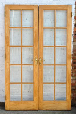 reclaimed wooden french doors