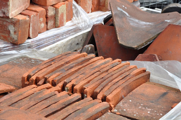 reclaimed building materials bricks and tiles