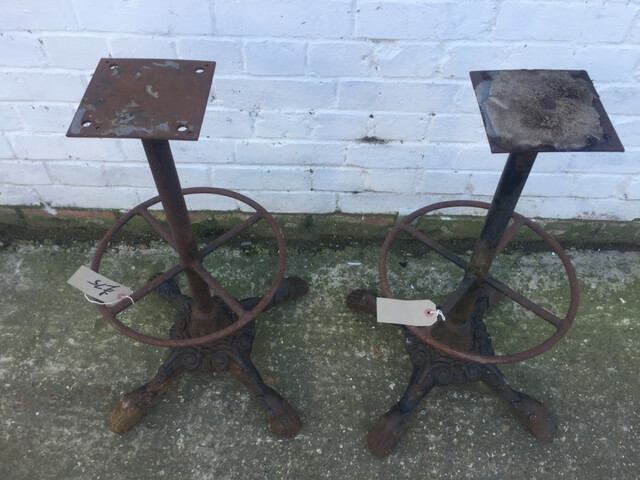 Victorian Cast Iron Stool Bases
