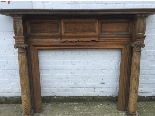 Late Victorian Oak Fire surround