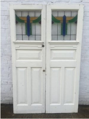 1930's Leaded glass double door
