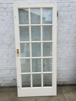Georgian style wooden glass door