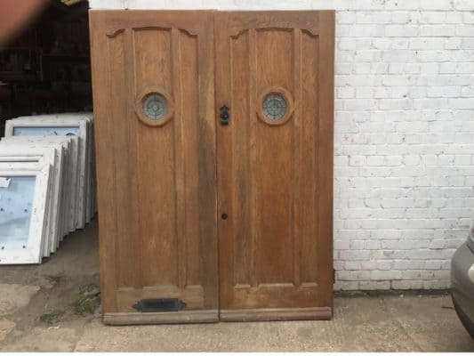 Solid Oak Double Front Doors